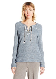 Lucky Brand Women's Lace-up Pullover Top  S
