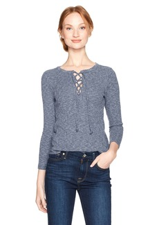 Lucky Brand Women's Lace-up Rib Top