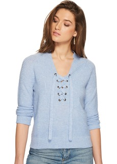 Lucky Brand Women's Lace Up Sweater  L