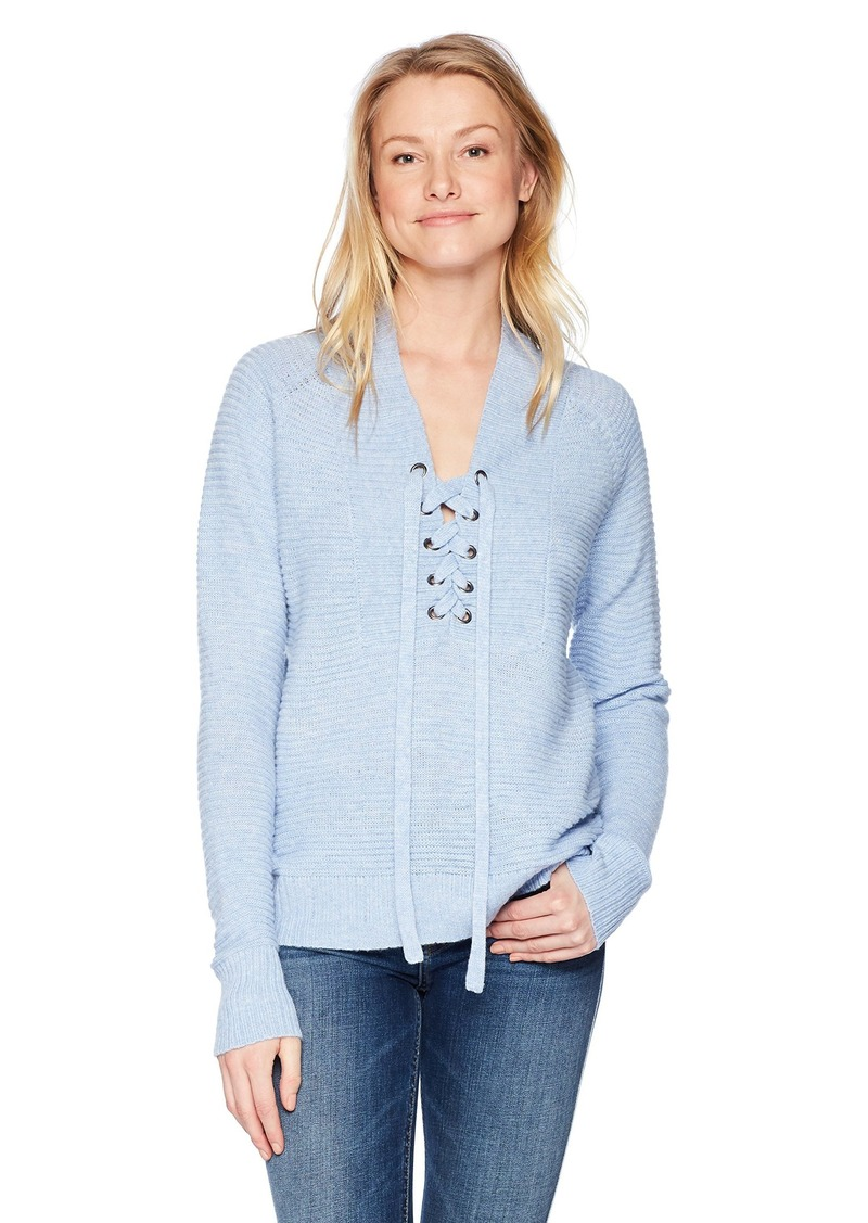 Lucky Brand Women's Lace Up Sweater  M