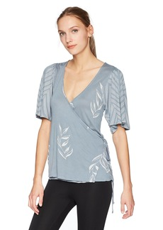 Lucky Brand Women's Leaf Print Wrap Top  M