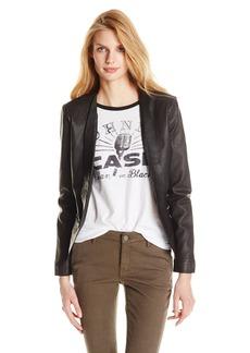 Lucky Brand Women's Leather Blazer Jacket