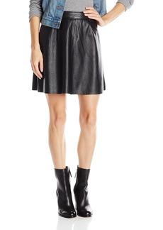 Lucky Brand Women's Leather Flirty Skirt