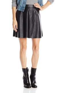 Lucky Brand Women's Leather Flirty Skirt