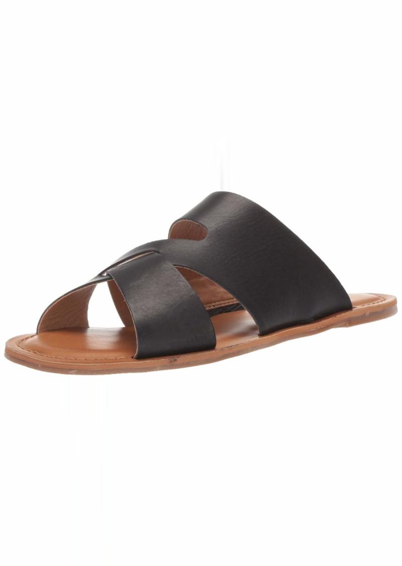 Lucky Brand Women's LEELAN Flat Slide Sandal   M US