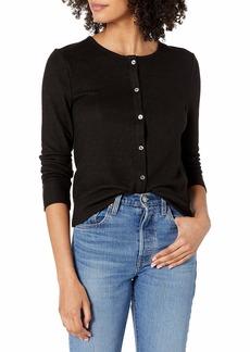 Lucky Brand Women's Long Sleeve Button Up Cloud Jersey Cardigan  S