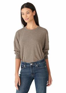 Lucky Brand Women's Long Sleeve Crew Neck Cloud Fleece Sweatshirt  XL