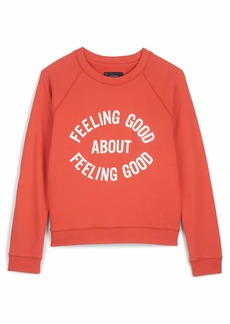 Lucky Brand Women's Long Sleeve Crew Neck Feeling Good Graphic Sweatshirt  XS