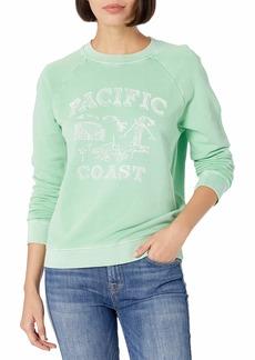 Lucky Brand Women's Long Sleeve Crew Neck Pacific Coast Sweatshirt  L