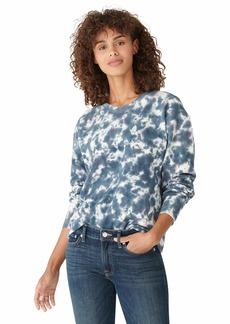 Lucky Brand Women's Long Sleeve Crew Neck Tie Dye Pullover Sweatshirt LG (US 10-12)