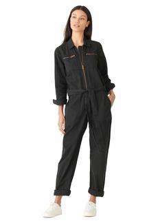 Lucky Brand Women's Long Sleeve Tie Front Boiler Jumpsuit  S