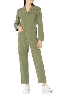 Lucky Brand Women's Long Sleeve Zip Up One Pocket Surplus Jumpsuit  S