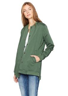 Lucky Brand Women's Long Varsity Jacket
