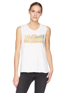 Lucky Brand Women's Los Angeles Graphic Tank TOP  L