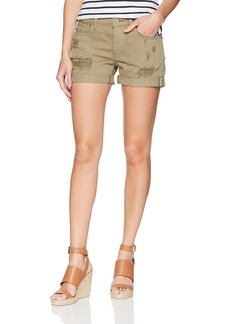 Lucky Brand Women's Low Rise Boyfriend Short Jean in Olive Reyes