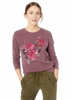 Lucky Brand Women's Lucky Floral Pullover Sweatshirt  S