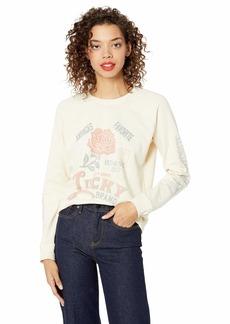 Lucky Brand Women's Lucky Rose Pullover Sweatshirt  L