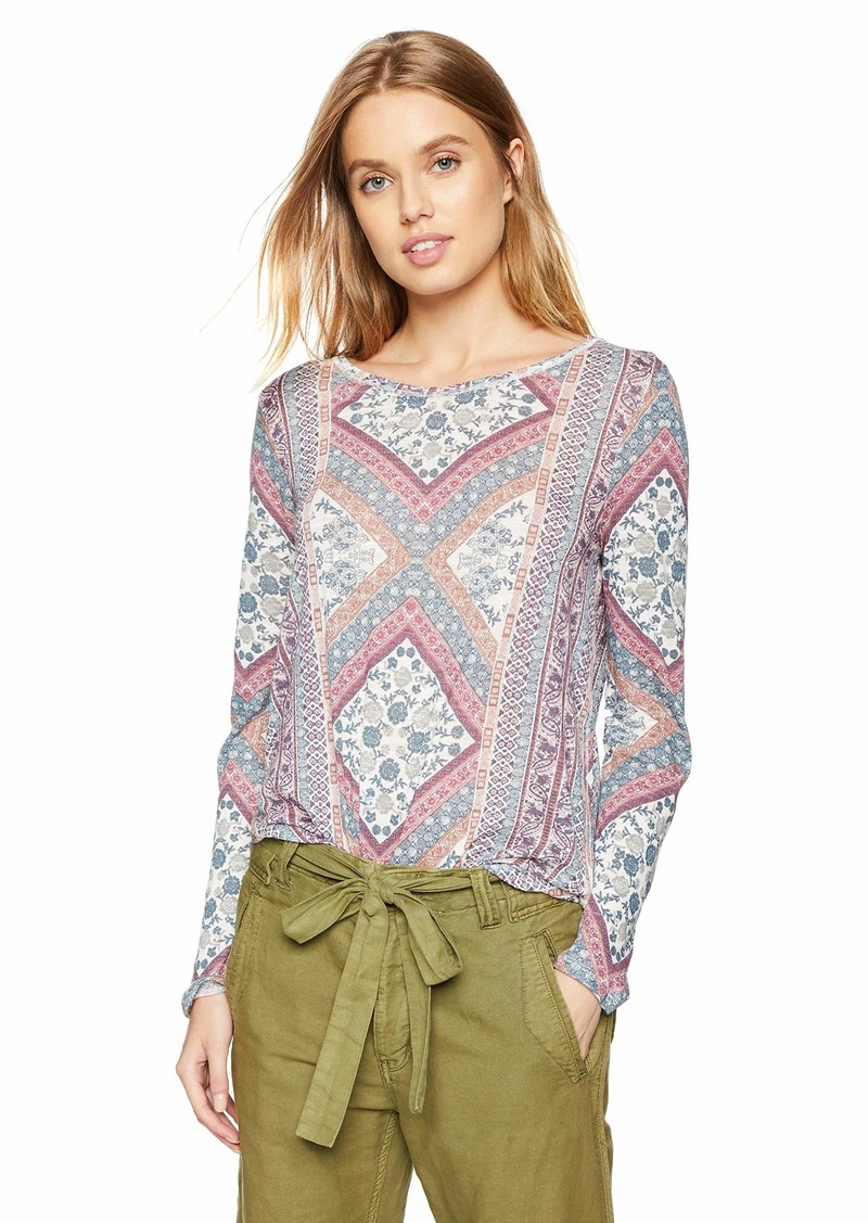 Lucky Brand Women's Lucky Tapestry TEE  L