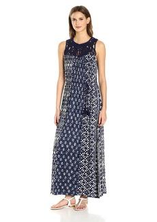 Lucky Brand Women's Macrame Yoke Dress