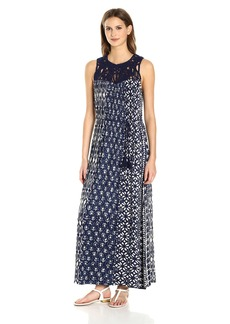Lucky Brand Women's Macrame Yoke Dress
