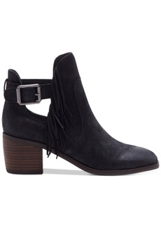 Lucky Brand Women's Makenna Fringe Booties Women's Shoes