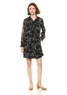 Lucky Brand Women's Marble Print Dress  L