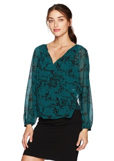 Lucky Brand Women's Marble Printed Blouse  S
