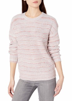 Lucky Brand Women's Marled Scoop Neck Sweater