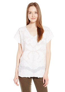 Lucky Brand Women's Mesh-Front Top