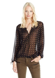Lucky Brand Women's Metallic Dotted Top