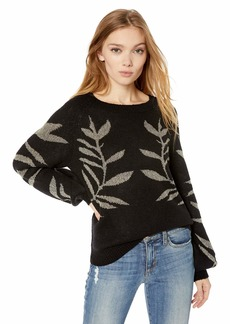 Lucky Brand Women's Metallic Leaf Pullover Sweater  XL