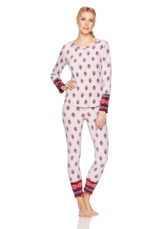 Lucky Brand Women's Microfleece Pajama Set  L