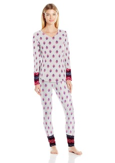 Lucky Brand Women's Microfleece V-Neck Pajama