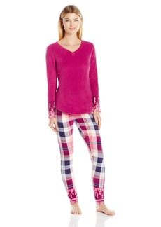 Lucky Brand Women's Microfleece V-Neck Pajama