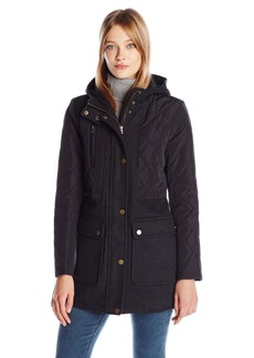 Lucky Brand Women's Mid-Length Wool Quilted Jacket  XL