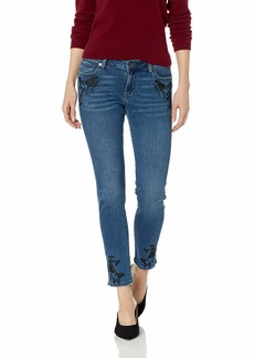 Lucky Brand Women's MID Rise Lolita Skinny Jean with Hemline Slit and Embroidery   (US 0)