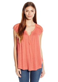 Lucky Brand Women's Milan Lace Top  mall