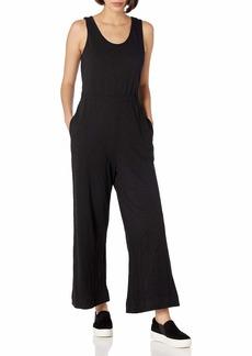 Lucky Brand Women's Misses Sleeveless Scoop Neck Wide Leg Knit Jumpsuit  L