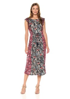 Lucky Brand Women's Mixed Floral Dress