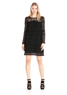 Lucky Brand Women's Mixed Lace Dress