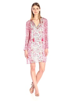 Lucky Brand Women's Mixed Print Dress