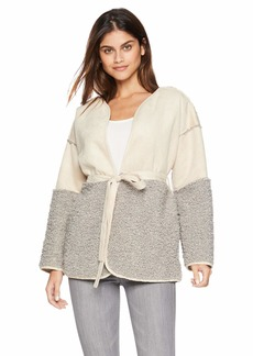 Lucky Brand Women's Mixed Sherpa Jacket  L