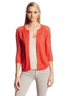 Lucky Brand Women's Monrovia Pointelle 3Rd Piece Sweater