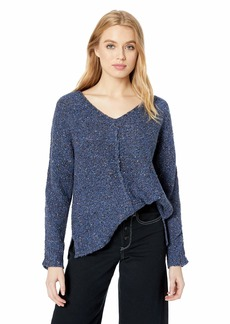 Lucky Brand Women's Multi Color V Neck Sweater Blue S