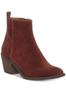 Lucky Brand Women's Natania Block-Heel Booties Women's Shoes
