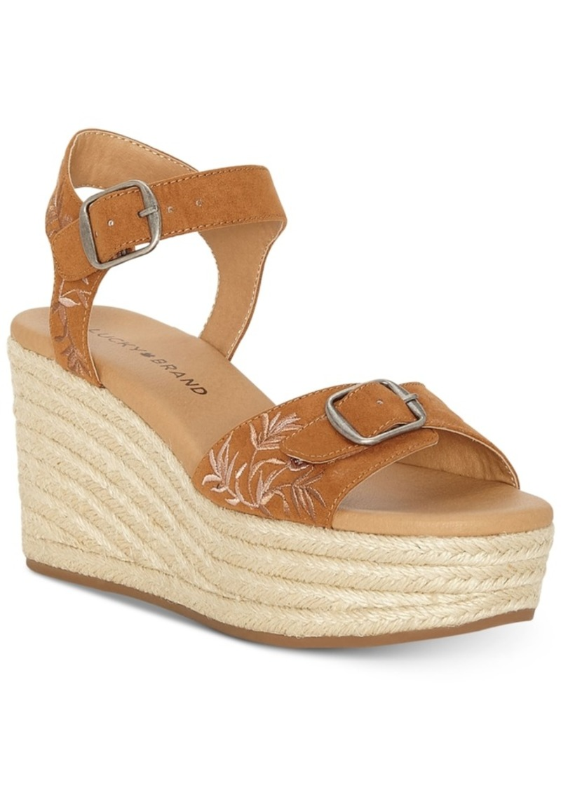 Lucky Brand Women's Naveah 2 Wedge Sandals Women's Shoes