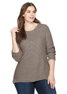Lucky Brand Women's Niko Pullover Plus-Size Sweater