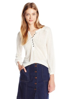 Lucky Brand Women's Novelty Mixed Knit Top