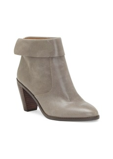 Lucky Brand Women's Nycott Leather Booties Women's Shoes