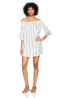 Lucky Brand Women's Off The Shoulder Cover-up Dress  L